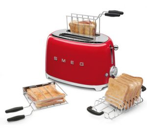 Smeg broodrooster TSF01 rood