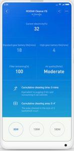 Xiaomi Roidmi F8 Storm app