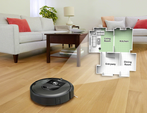 iRobot Roomba i7+ mapping