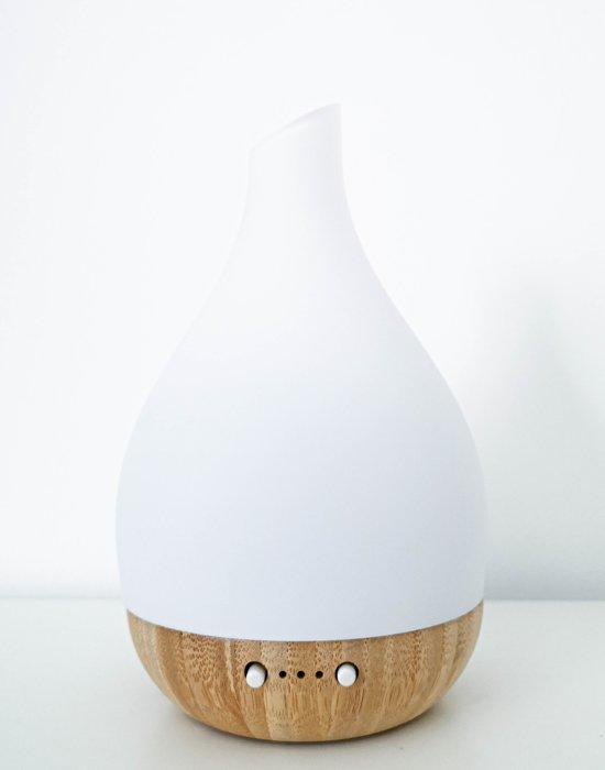 Aroma diffuser Nature© ultrasonische vernevelaar van écht bamboe